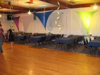 Change your Event Room from Boring to fun with spandex shapes and up lighting