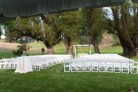 Padded Garden Wedding Chairs and Pergola