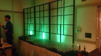 Shoji Screen with Up-lighting, a great Bar Backdrop!