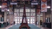 Eifel Tower, aluminum trussing, custom graphics, carpet
