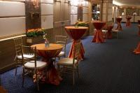 Fall into a comfortable bistro table for two or mingle over a standing cocktail table.